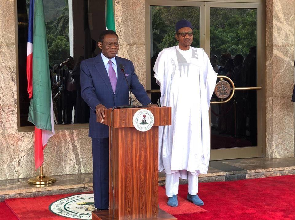 El Presidente de Nigeria recibe al Jefe de Estado de Guinea Ecuatorial