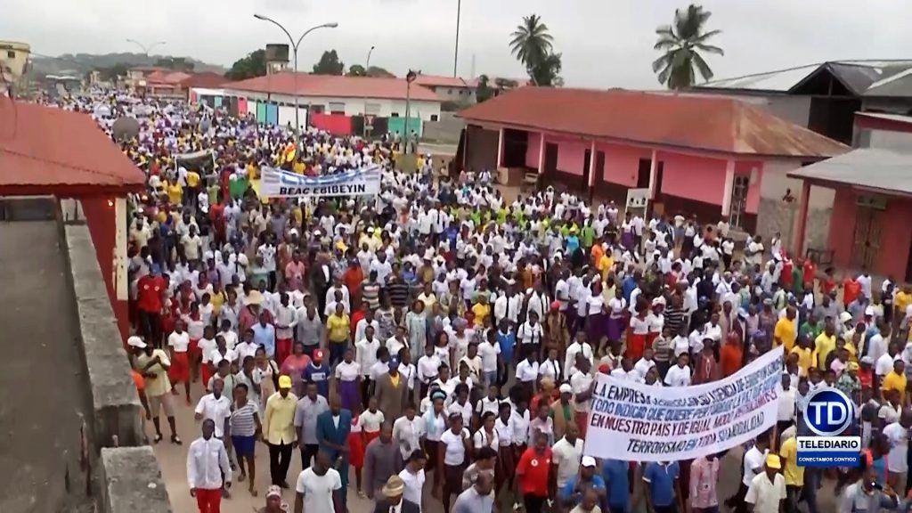 No a la desestabilización, sí a la paz: la manifestación en Ebebiyin