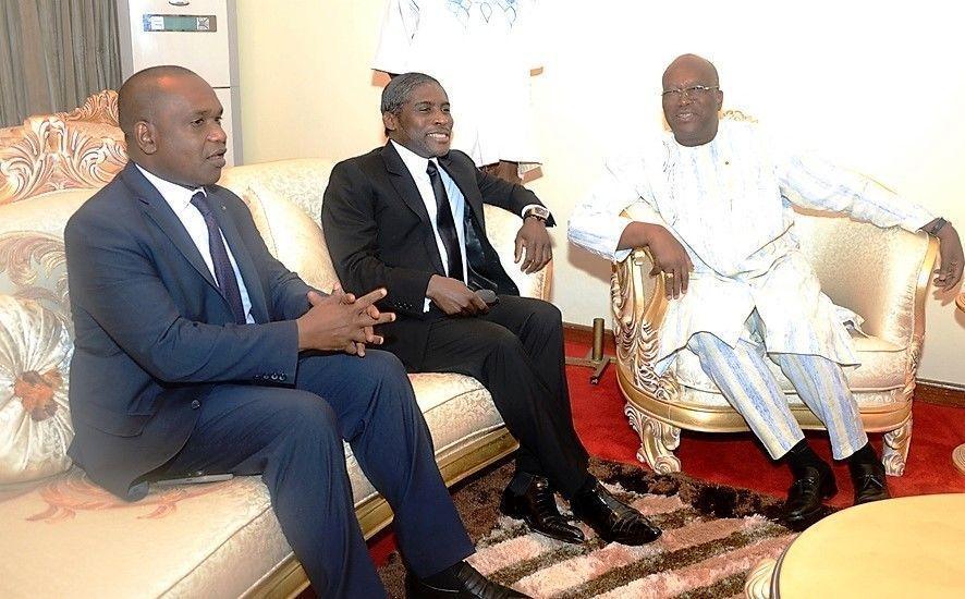 El Vicepresidente en la investidura del Presidente de Liberia