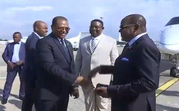 La delegación encabezada por el Secretario General del PDGE regresa de la República de Congo