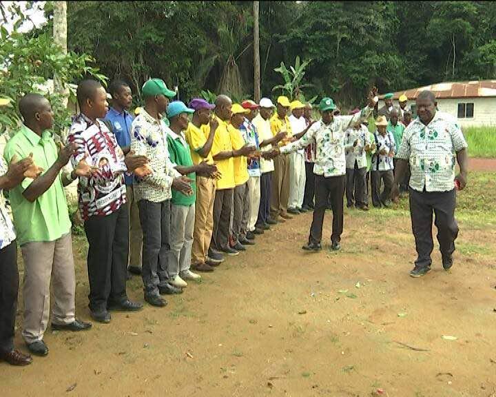 Clausura de la gira del Consejo Distrital del PDGE en Ebebiyin