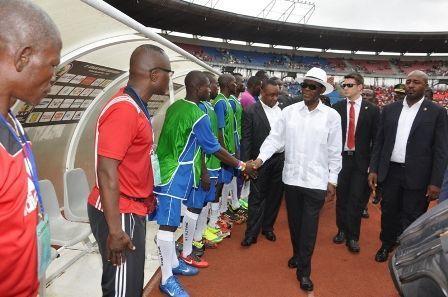 Inauguración de la COPA de Fútbol de la CEMAC