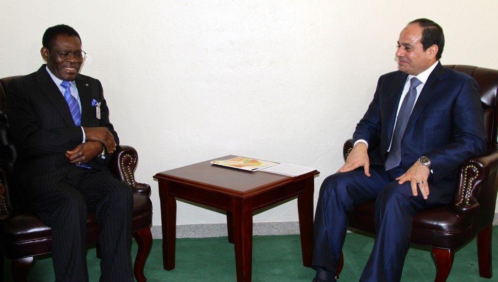 Obiang Nguema Mbasogo de visita oficial en Egipto