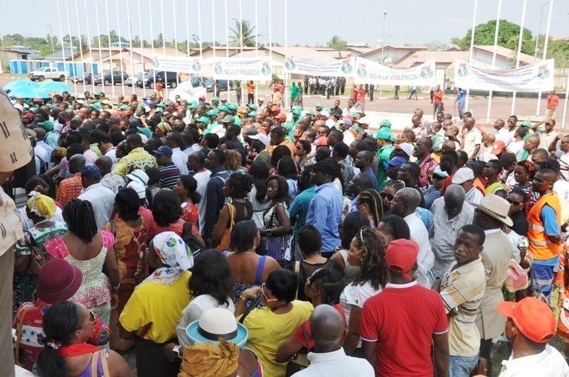 Manifestaciones del PDGE para condenar la violencia en el fútbol