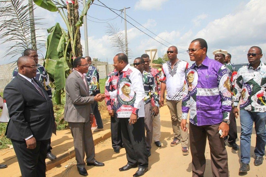 Nsok Nsomo, la ciudad de Fortunato Ofa, se vuelca con la Gira del PDGE