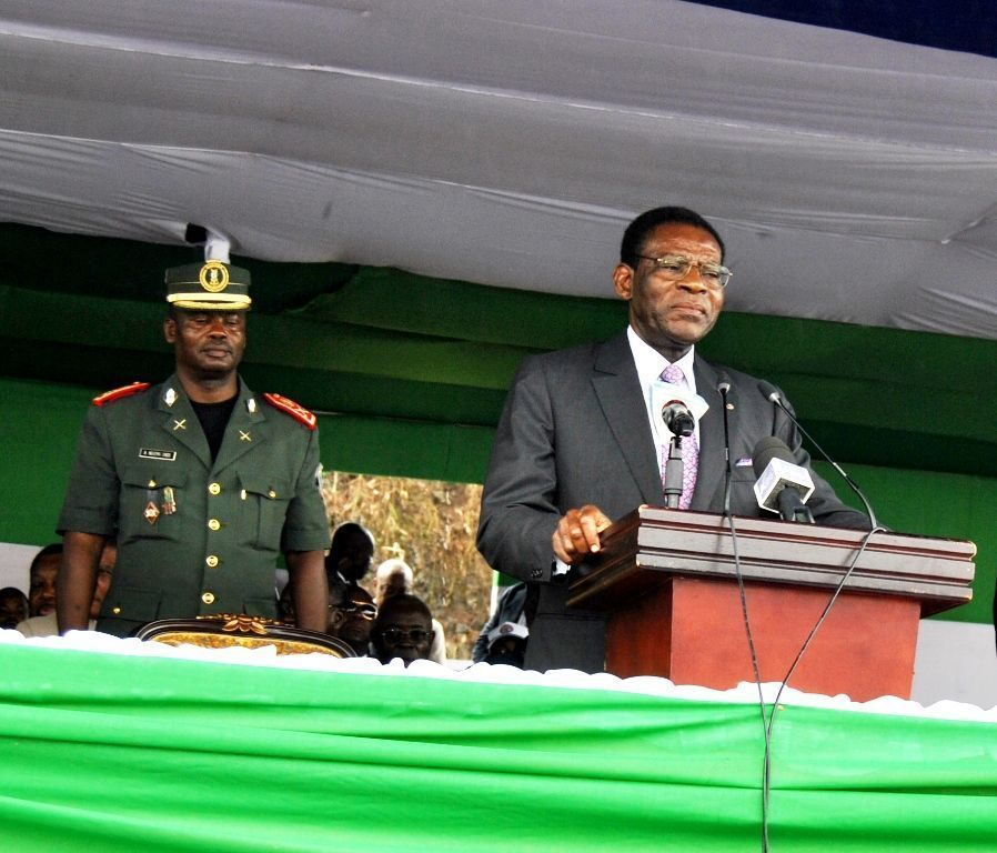 La pareja presidencial inicia su gira en la isla de Bioko