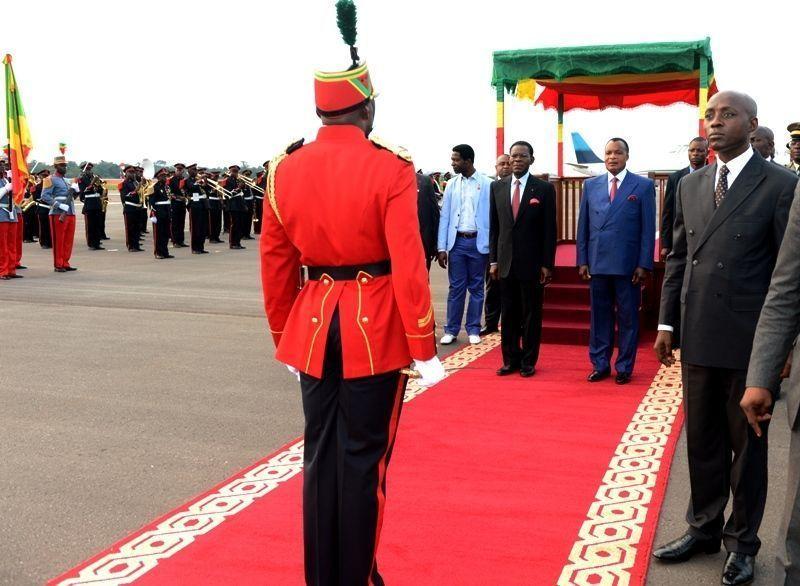 La pareja presidencial asiste a los actos del 55º Aniversario de la Independencia del Congo