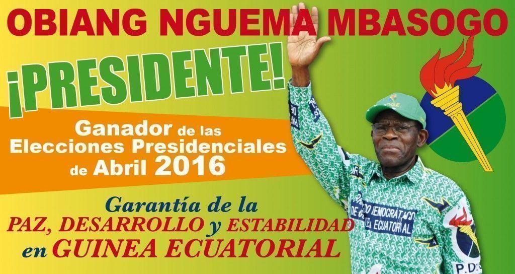 Absoluta victoria electoral de Obiang Nguema Mbasogo