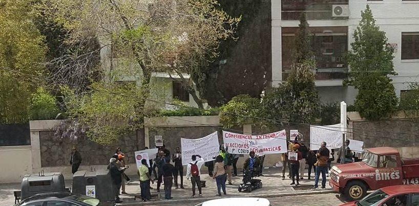 Ridículo total de la manifestación contra las elecciones en España
