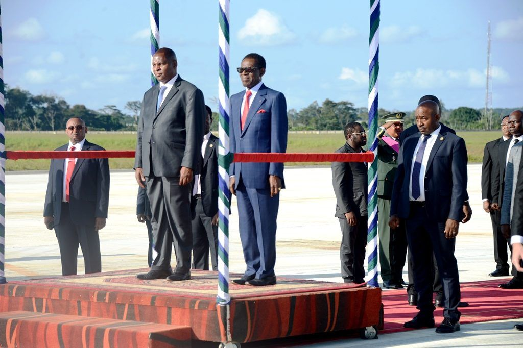 El Presidente de la República Centroafricana inicia una visita a la República de Guinea Ecuatorial