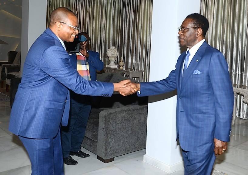 El Jefe de Estado recibe al presidente del BDEAC