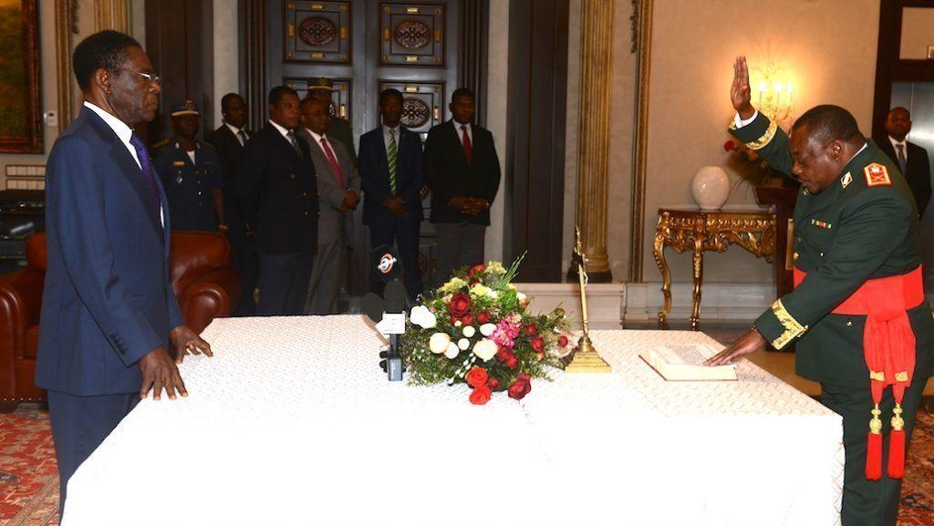 Juramento de cargos ante S. E. Obiang Nguema Mbasogo