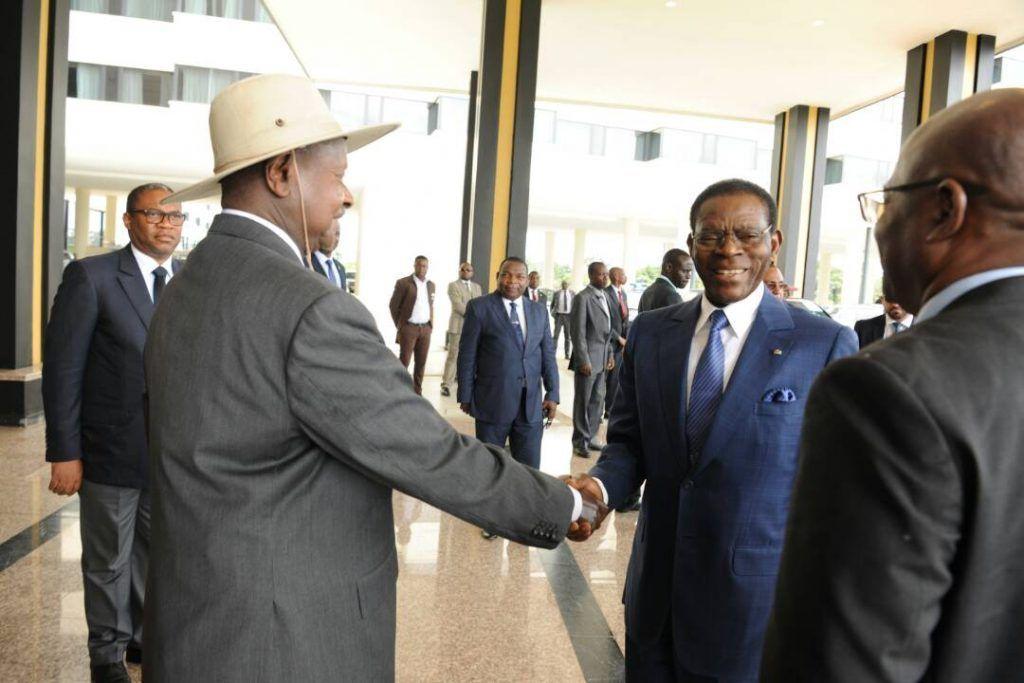 El Jefe de Estado de Uganda recorre Djibloho