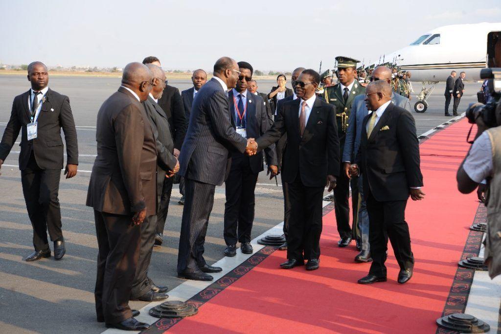 Llegada de la delegación presidencial a Angola