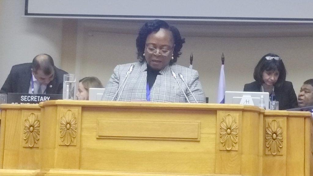 Discurso de Teresa Efua Asangono en la 137ª Asamblea de la Unión Interparlamentaria