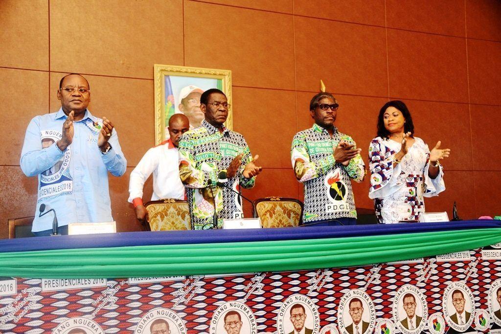 Importante reunión del Presidente Fundador en la sede del partido en Malabo