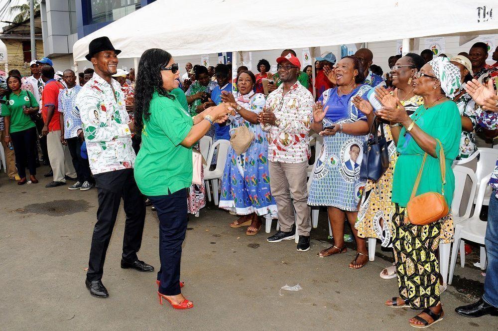 Frenética actividad de la campaña del PDGE en Malabo