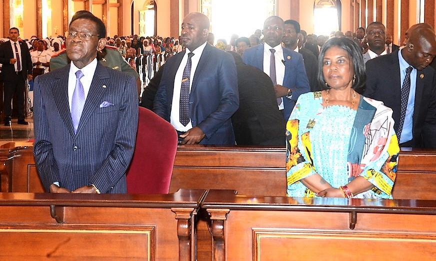El Presidente y la Primera Dama en la misa por la patrona de Guinea Ecuatorial