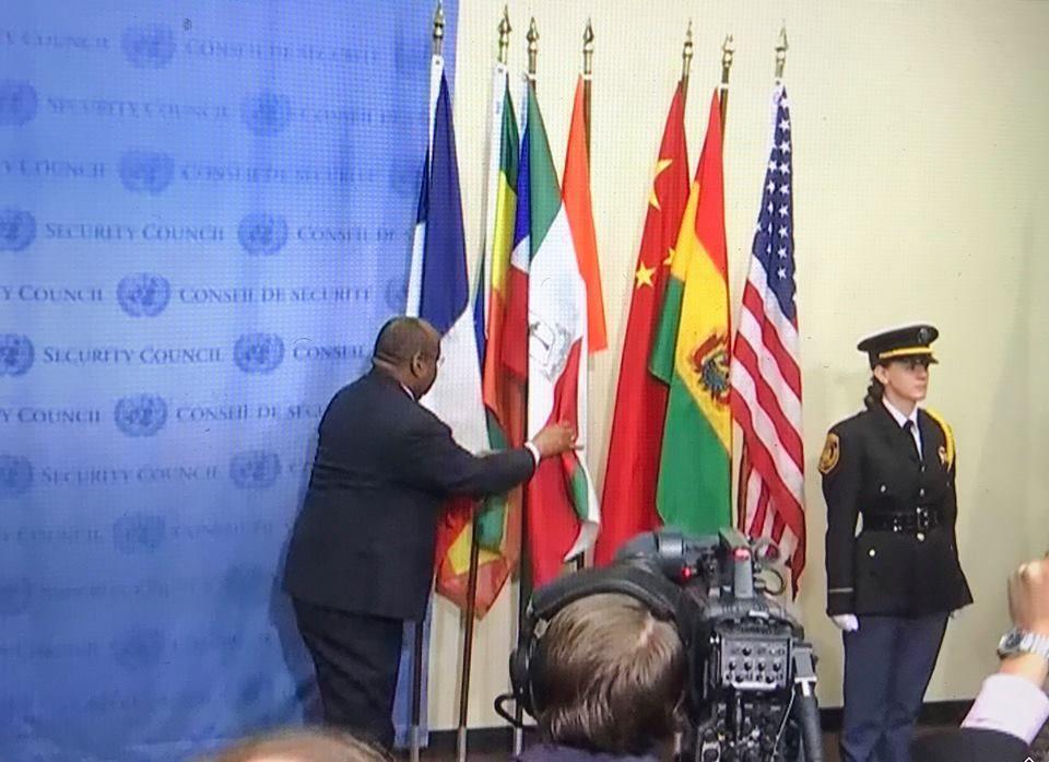 La bandera de Guinea Ecuatorial entre las oficiales en el Consejo de Seguridad