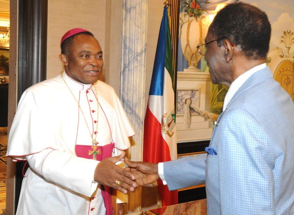 El Presidente de la Conferencia Episcopal confirma al Jefe de Estado la adhesión de la Iglesia al Gobierno ecuatoguineano