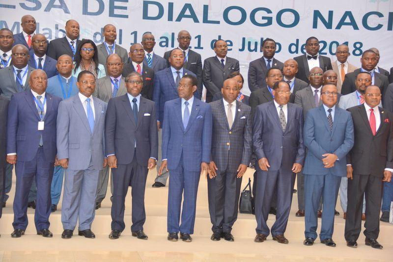 Los partidos políticos de Guinea Ecuatorial firman los acuerdos de la VI Mesa del Diálogo Nacional