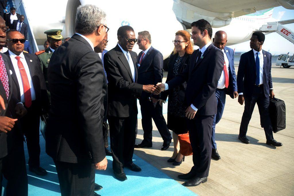 El Presidente de Guinea Ecuatorial llega a Turquía para participar en la ceremonia de toma de posesión del Presidente Erdogan