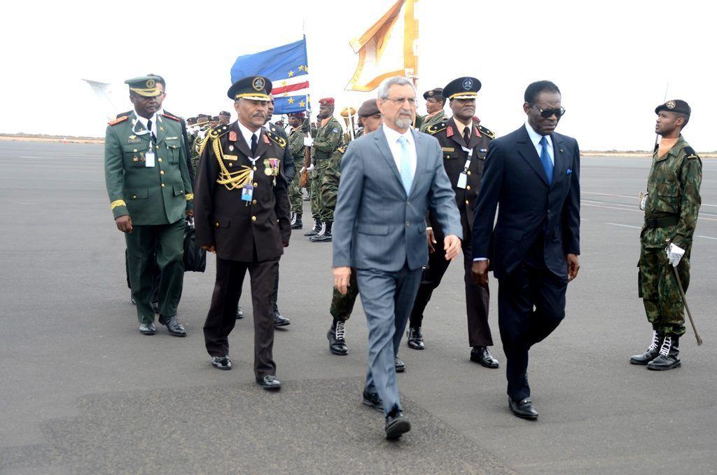 Llegada del Jefe de Estado a Cabo Verde