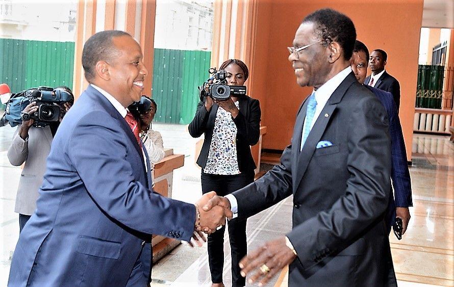 El Presidente recibe a Patrice Emery Trovoada