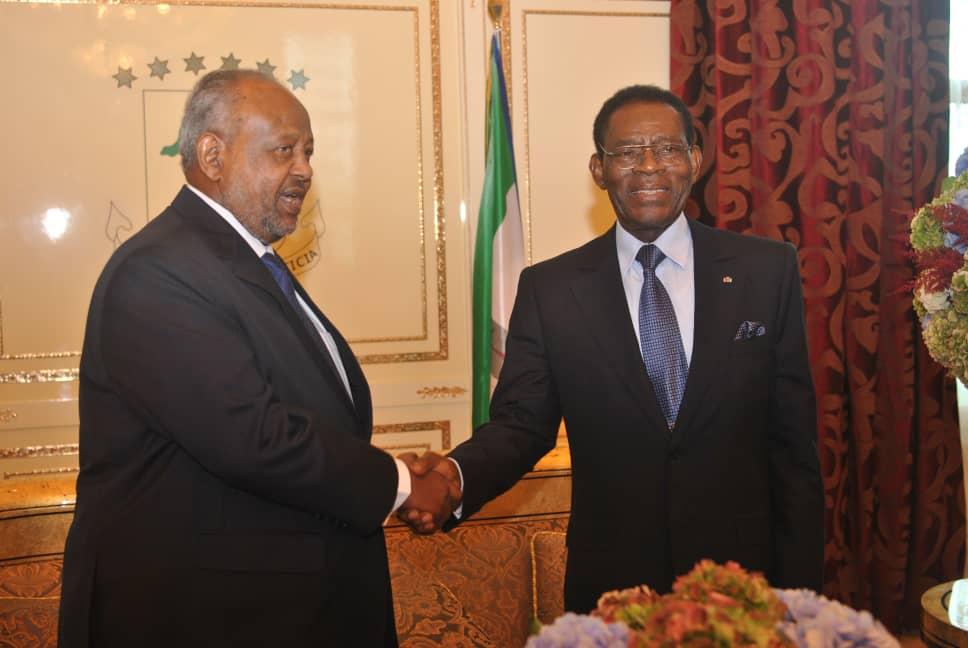 El Presidente de la República de Yibuti efectúa una visita de Estado a Malabo con ocasión del 50º Aniversario