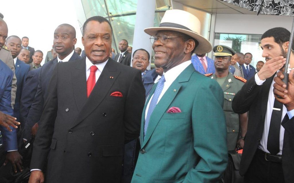 La pareja presidencial despide al Presidente de Congo y la Primera Dama