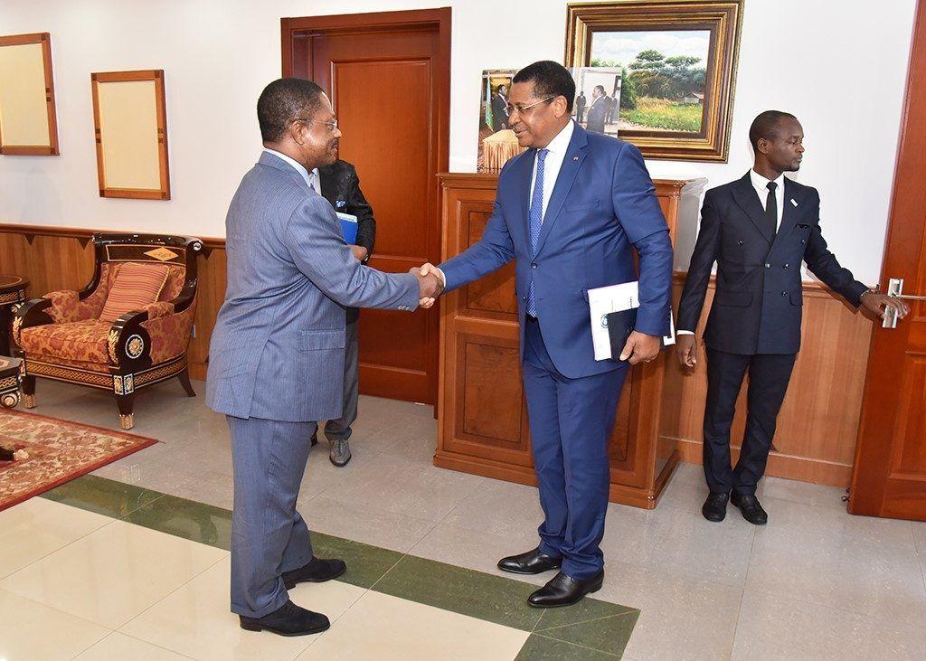 Audiencia del Primer Ministro con el presidente de la Comisión de CEMAC