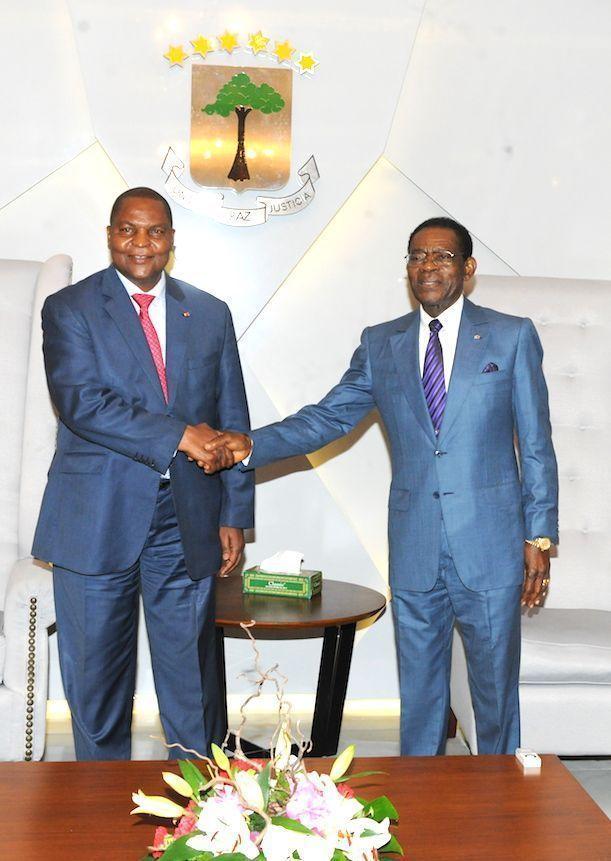 Llegada del Presidente de Centroáfrica a Mongomo