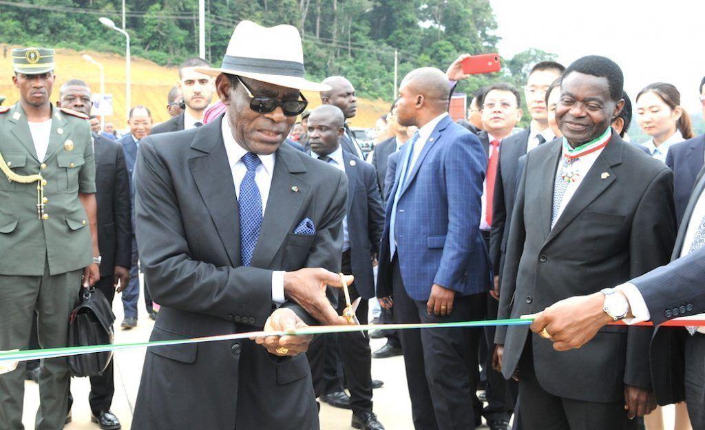 Ceremonia de apertura del Embalse de Regulación de la Central Hidroeléctrica de Djibloho