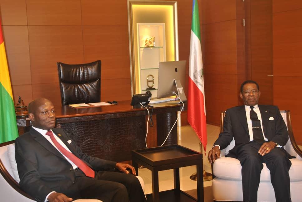 Audiencia entre los Jefes de Estado de Guinea Ecuatorial y Guinea Bissau