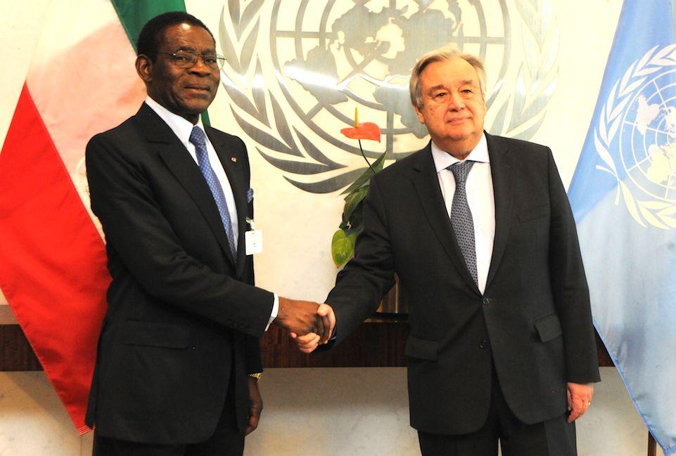 Encuentro del Jefe de Estado con el Secretario General de Naciones Unidas
