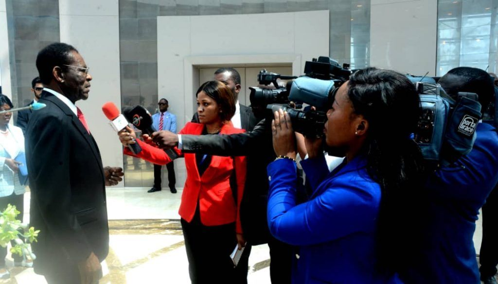 Regreso a Malabo de la pareja presidencial