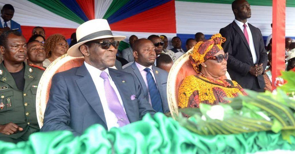 La Pareja Presidencial llega a Kogo