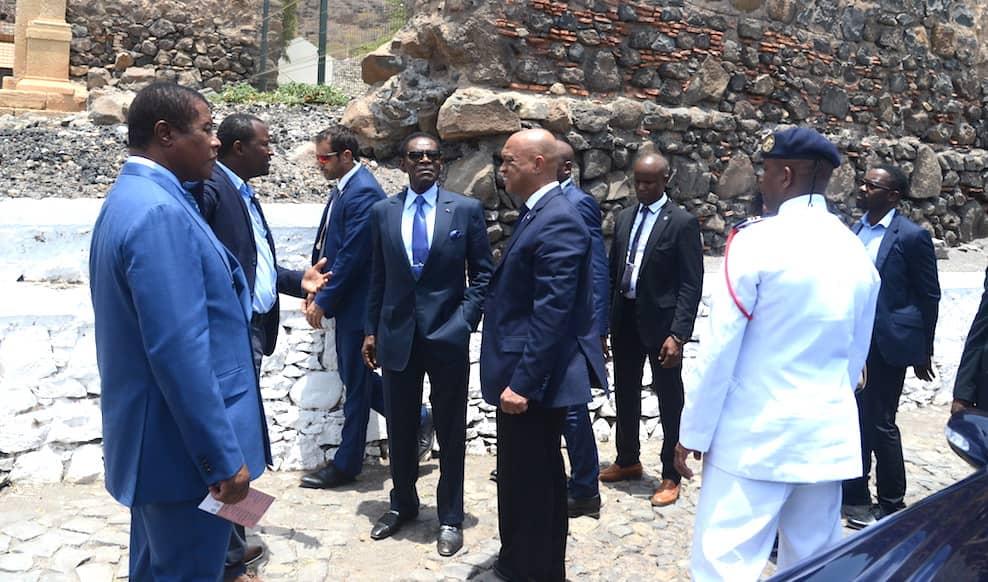 El Jefe de Estado visita la capital de Cabo Verde