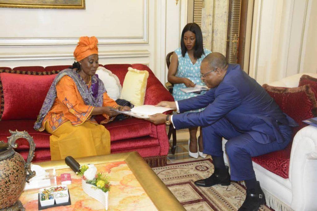 La Primera Dama se reúne con el presidente del BDEAC para promover el empoderamiento de la mujer