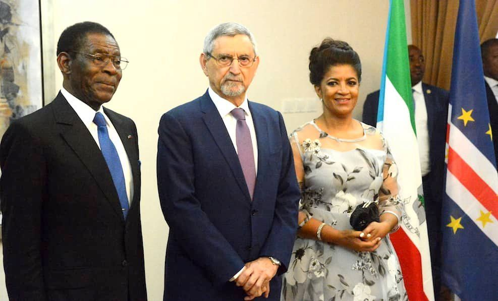 La pareja presidencial de Cabo Verde ofrece una cena de Estado al Presidente de la República