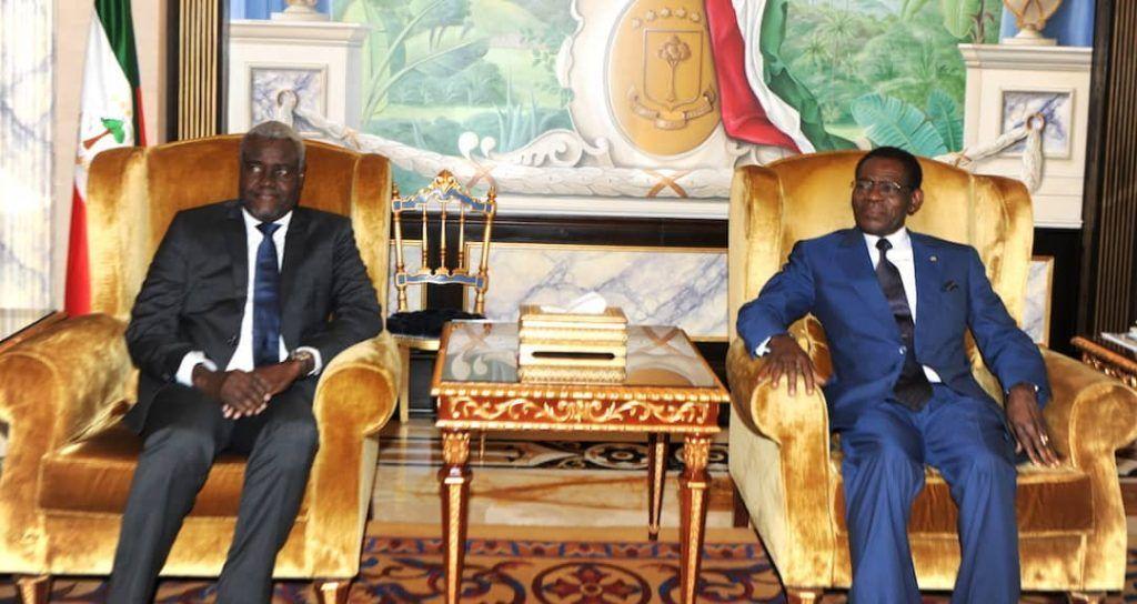 El Jefe de Estado recibe al Presidente de la Comisión de la UA