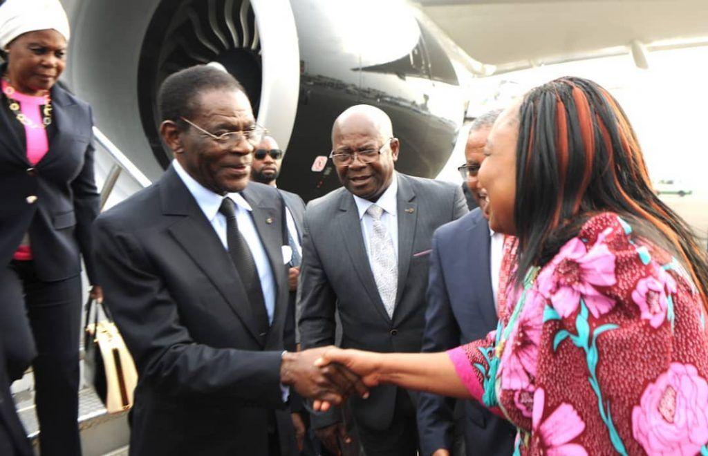 El Jefe de Estado llega a Addis Abeba