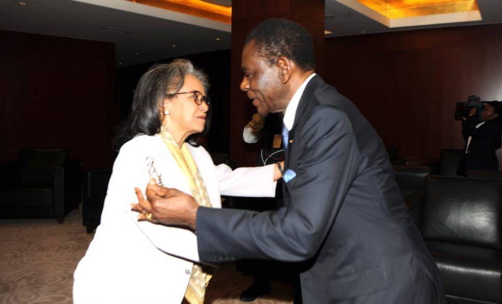 S. E. Obiang Nguema Mbasogo se reúne con la Presidenta y el Primer Ministro de Etiopía