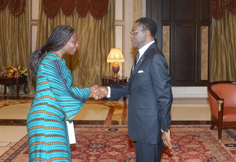 El Presidente recibe a la Representante del PNUD y los embajadores de Alemania y Angola