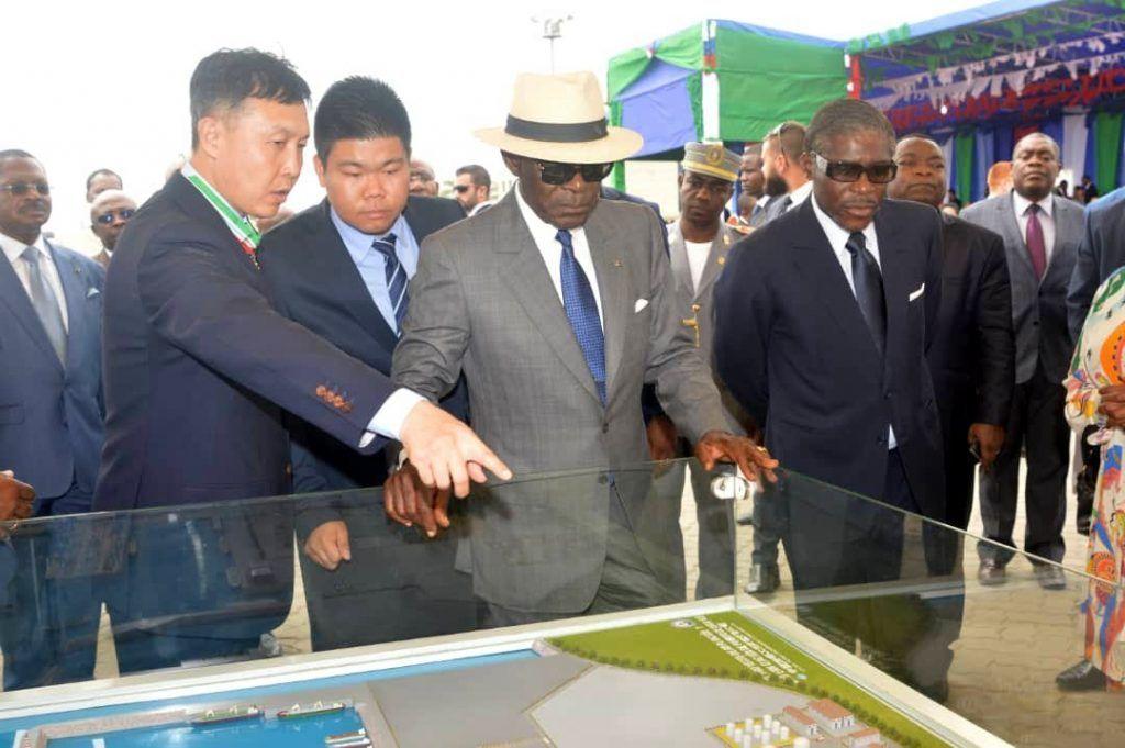 El Jefe de Estado inaugura el Puerto de Bata