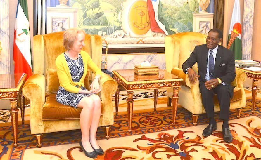 El Jefe de Estado recibe a la Embajadora de EE.UU. y a una delegación de Eswatini