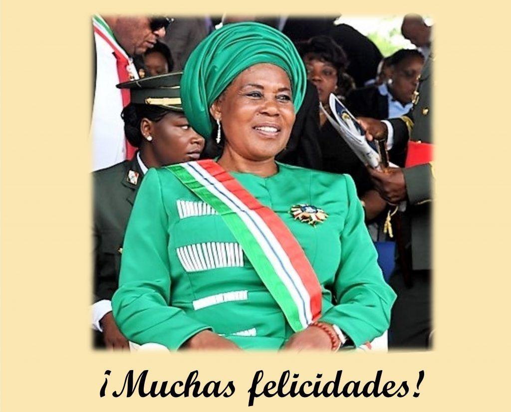 Mensaje de felicitación del PDGE a La Hermana Militante Constancia Mangue Nsue Okomo de Obiang