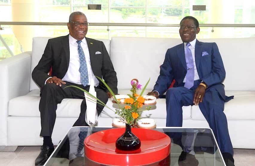 Almuerzo de los Presidentes de Guinea Ecuatorial y Santo Tomé