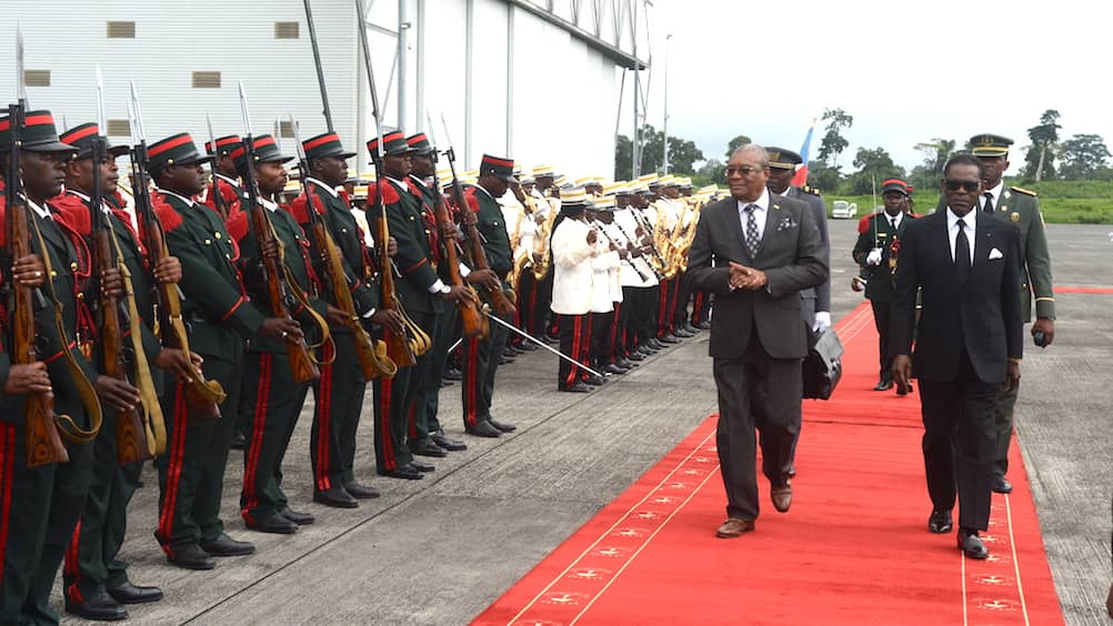 El Presidente de Sao Tomé y Príncipe visita Guinea Ecuatorial por primera vez