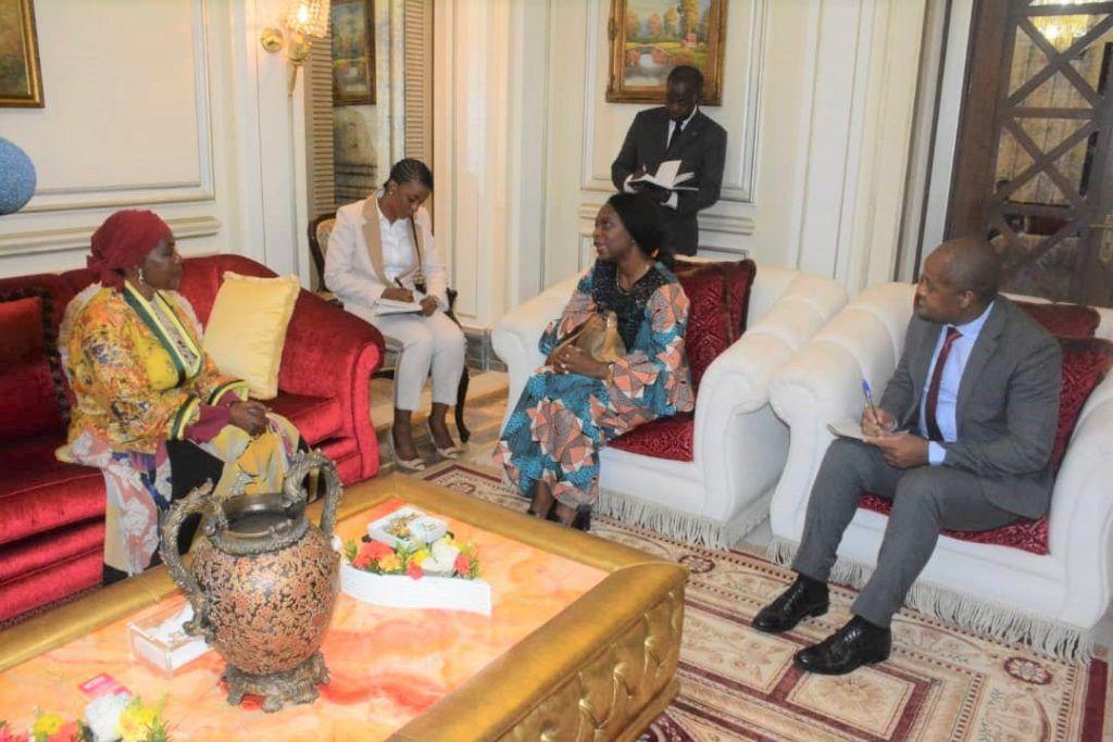 La Primera Dama recibe a la representante del PNUD en Malabo
